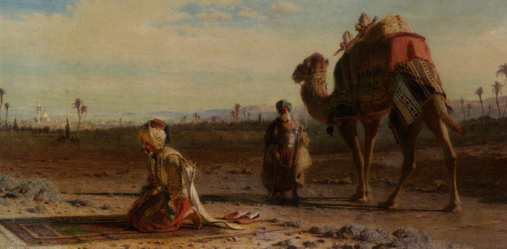 Haag_Carl_La_illah_ill_allah_There_is_No_God_but_God_1875_watercolor_over_pencil_on_paper-large
