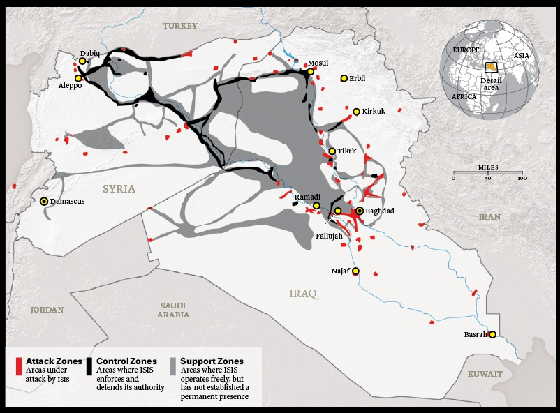 map isis