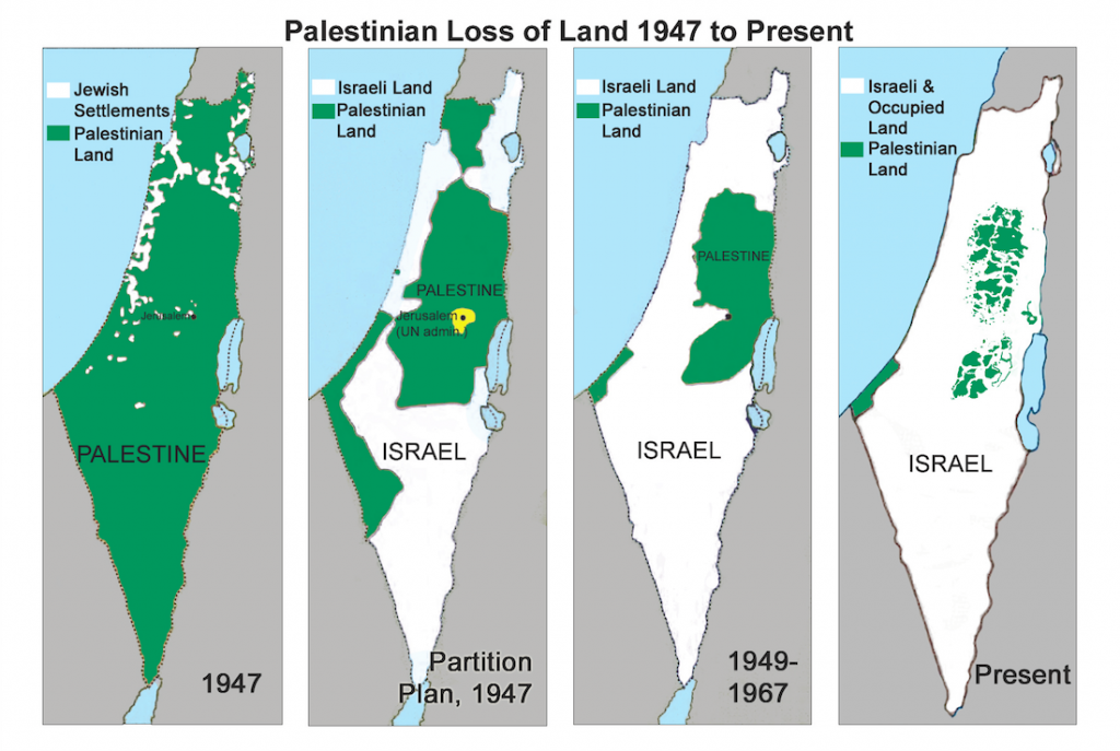Israeli theft of Palestinian lands 1947-2015